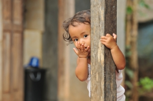 child in slum