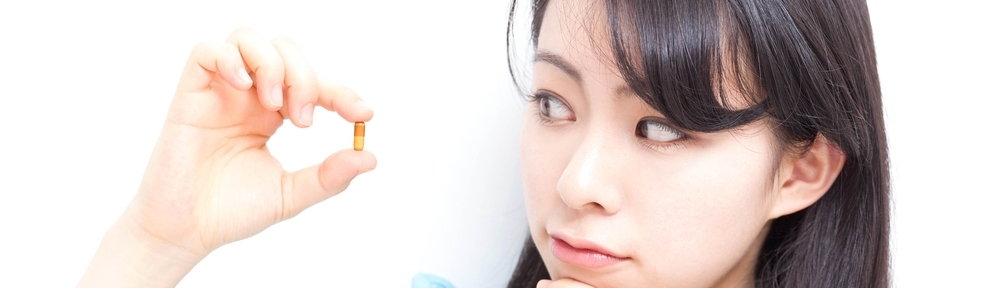 girl with pill