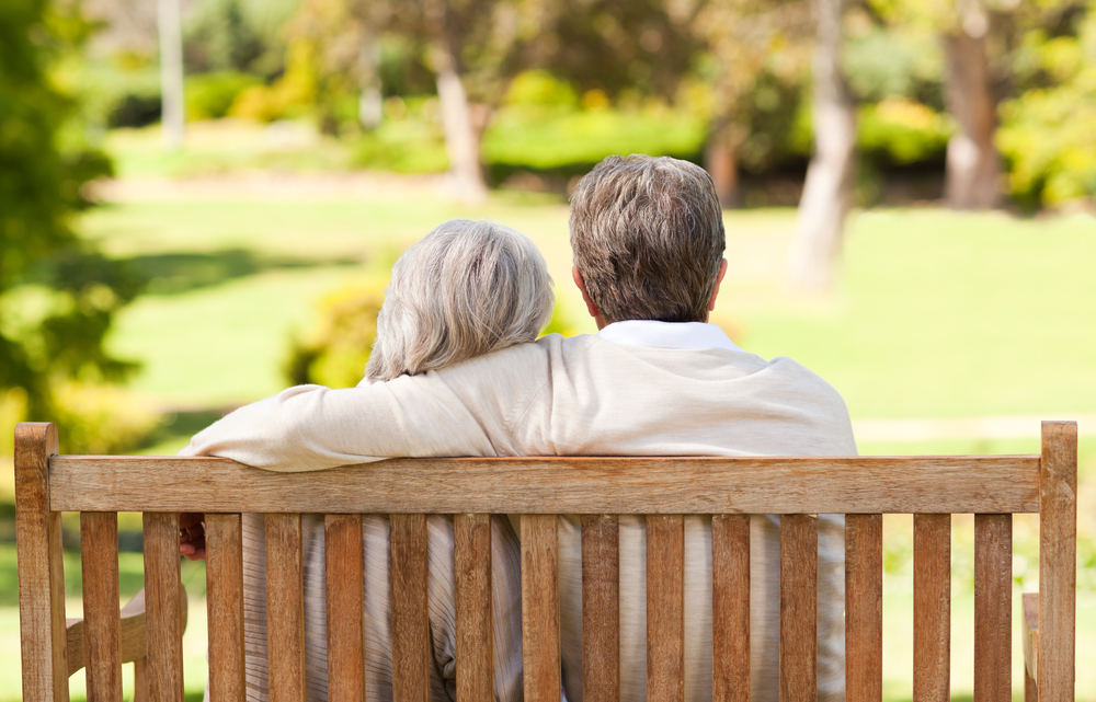 older couple on a bench