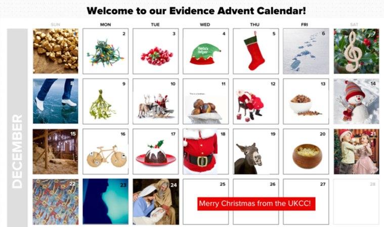 An evidence advent calendar!