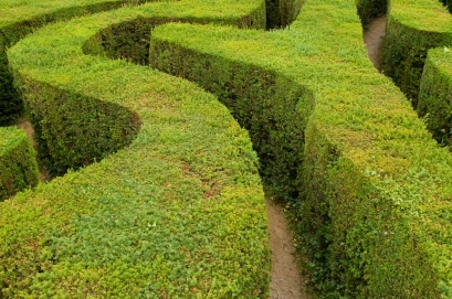 looping path through maze