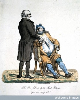 'The poor doctor and the rich patient. 'You are very ill!'